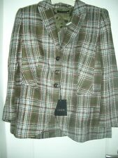 LUXE Escada Couture Maison de campagne Blazer chasse vert tweed carreaux 42/44 1180,- Golf Club