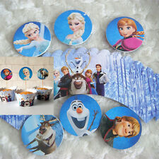 6 Sets Cup Cake Deco(Cake Toppers + Cake Wrappers)Frozen Anna Elsa Olaf N06 S#