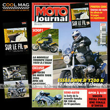 MOTO JOURNAL N°1721 TRIUMPH 1050 TIGER YAMAHA FJR 1300 AS ERIC MAHE BMW R 1200 R