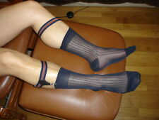 1 Paire Socks Garters NEOFAN A6 + 3 paire cho7 taille 39/42 bleu sheer a cotes
