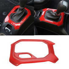 For Jeep Renegade 2015-2016 Red Car ABS Interior Accessories Gear Trim Circle