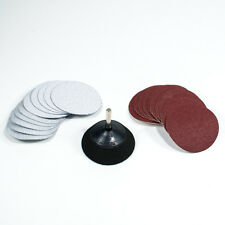 "3"" Hook and Loop Sanding Pad with 1/4"" Shank Drill Adapter & 20pc Sandpaper"