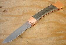 CUSTOM BUCK 110 HUNTER KNIFE S30V BLADE C-TEK HONEYCOMB HANDLES COPPER BOLSTERS