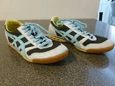 ONITSUKA TIGER WOMENS Size 10 ULTIMATE 81 SHOES SNEAKERS BLACK WHITE BLUE H