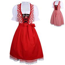 US New Cheer German Dirndl Oktoberfest Fraulein Dress Xmas Costume Women Size XL