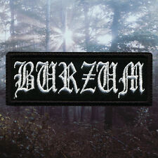 1Burzum - Old Logo | Embroidered Patch | Norway | Norwegian Black Metal Band