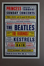 The Beatles 1963 Concert Poster Princess Theatre Torquay The Fourmost Kestrels