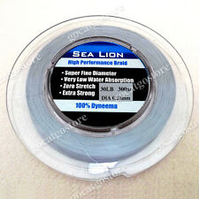 NEW Sea Lion 100% Dyneema Spectra Braid Fishing Line 300M 30lb Grey