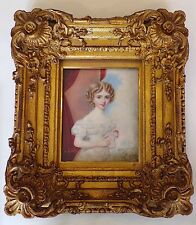 MINIATURE PORTRAIT - young Victorian child - information detailed on back/signed