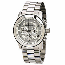 Michael Kors MK8086 Men's Silver Oversize Runway Watch