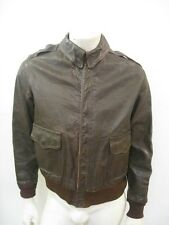 Vintage WWII A-2 Leather Flight Jacket Talon Bell Zipper Size 40