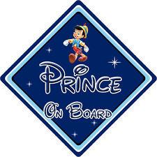 Disney prince à bord voiture signe-bébé à bord – pinocchio db