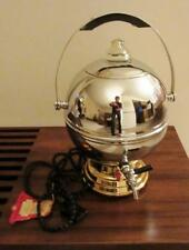 MID CENTURY MODERN LABELLE CHROME & GOLD PLATED ROUND COFFEE MAKER  90 seconds