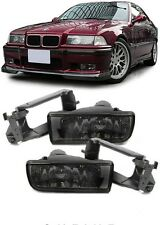 CRYSTAL SMOKED FOG LIGHTS & FITTING BRACKETS FOR BMW E36 3 SERIES