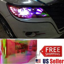 "12""x6FT Chameleon Neo RED Colorful Headlight Taillight Fog Tint Film Vinyl Decal"