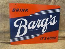 Vintage Barq's Drink Sign Deep Color   Antique Soda Cola Beverage Root Beer 8721