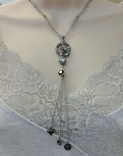 Betsey Johnson Iconic Amethyst Crystal Snake Y Necklace NWT