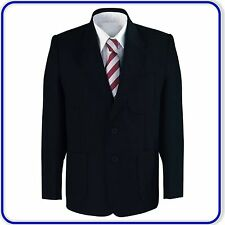 New Good Quality Boys School Blazer Jacket Uniform Black Bottle Navy (4010)