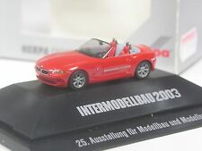TOP: Herpa Sondermodell BMW Z4 Roadster rot Intermodellbau 2003 in OVP