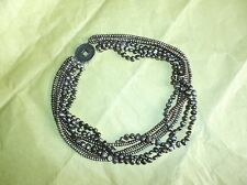 Handcrafted Multi Strand Freshwater Pearl Necklace, Chinese Coin Clasp Sterling