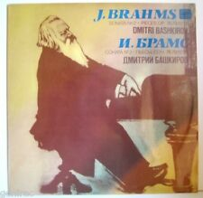 BASHKIROV piano Brahms Sonata 2 Intermezzos Rhapsody RARE USSR MELODIYA MINT