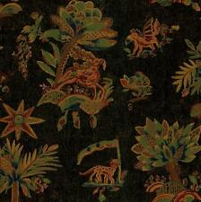 Wallpaper Yellow Brown Green Red Orange Blue Pink Trees Tiger Deer on Black  Tan
