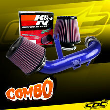 09-15 Lancer 2.4L 4cyl Automatic Blue Cold Air Intake + K&N Air Filter