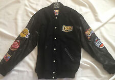 Lakers v Sixers 2001 NBA Finals Leather Jeff Hamilton Jacket Brand New w tag XXL