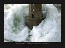 Phares dans la Tempete Jean Guichard Lighthouse Man stormy seas fine art print