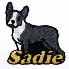 Iron-on Boston Terrier Dog Patch With Name Personalized Free