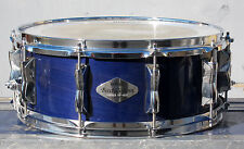 "Yamaha Beech Custom QK 4655 14"" x 5"" Blueberry Finish Snare Drum w/ Carrying Bag"