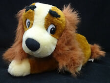 """Lady and the Tramp Spaniel Brown Puppy Dog White Disney Goffa Plush 12"""" Toy"""