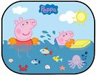 2 X Peppa Pig Car Sun Shade Kids Baby Window Visor Sunshade