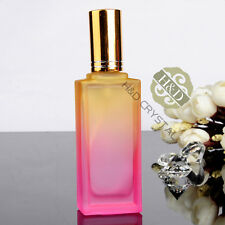 Empty Crystal Cut Glass Perfume Spray Bottle Refillable Wedding Lady Gifts 20ml