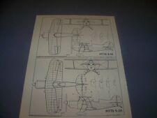 VINTAGE..PITTS S-1S & PITTS S-2A...3-VIEWS/CROSS SECTIONS..RARE! (92D)