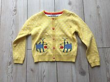 Girls Bee Cardigan Yellow Dots Next Day Delivery Cotton Age 3/4 Years