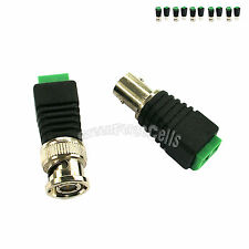 5 pair Coax CAT5 To CCTV Camera Coaxial BNC Male Female Video Balun Connector