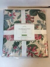 Pottery Barn Naturals Ava Palampore Duvet Full Queen Organic 350 Thread