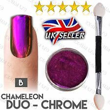 ULTRA CHAMELEON DUO CHROME PIGMENT COLOR SHIFT NAILS POWDER PINK CHANGE EFFECT B