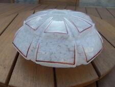 Tulipe globe boule blanc moucheté Clichy pour lustre lampe Art deco