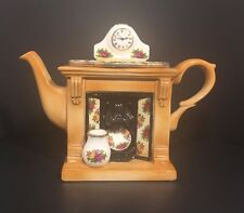 Vintage ROYAL ALBERT, Old Country Roses Miniature Fireplace Teapot