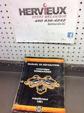 Ski-Doo Bombardier 1981 Manuel De Reparation Supplement Francais 6120720D
