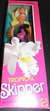 Vintage Barbie Tropical SKIPPER NIB 1985  longest hair ever Sister Barbie New