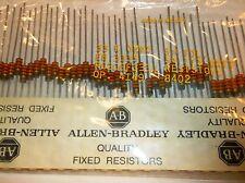 50 Allen Bradley Carbon Comp Resistors  33k 1/2 watt 5%