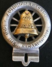 AAA License plate topper Southern California brass bell #E894