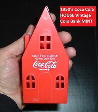 "1950's Coca Cola Soda Pop OLD Coke ""HOUSE"" Coin Bank MINT Free shipping!"