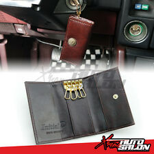 JDM Initial D Official Leather Key Holder Trifold Case AE86 Trueno FRS 86 Levin