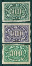 [JSC]1922 GERMANY VINTAGE WORLD WAR I DEUTSCHE REICH STAMPS