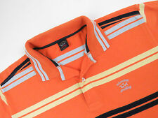 S3967 paul & shark polo shirt top original premium à rayures made in italy taille s