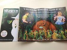 3 x Flyer WICKED The Musical Apollo Victoria Theatre NEW Winner This Morning